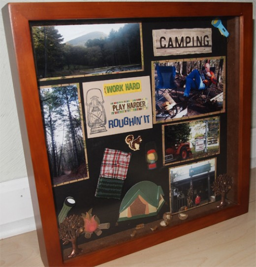 how to make a shadow box frame in photoshop