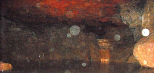 "A pictures allegedly showing mystical ""orbs""."