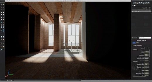 A virtual room in AutoCAD.