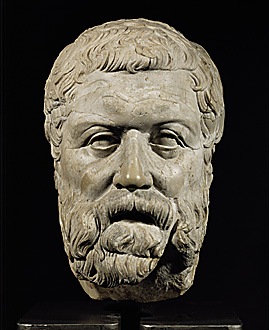 Pindar, who made his living immortalizing others and thus himself.
