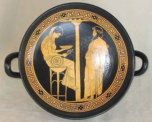 The Pythia at the Oracle of Delphi.
