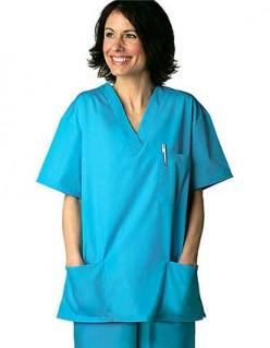 Adar Women V-Neck Two Pockets Nursing Scrubs - 3 Pockets