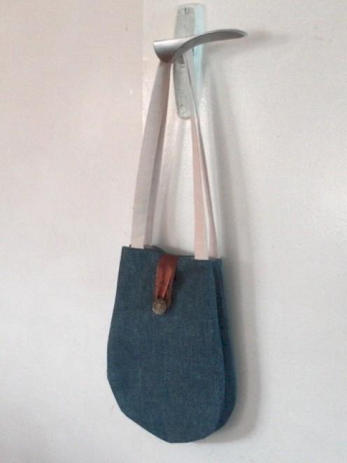 Noriko Bag made with recycled fabrics.