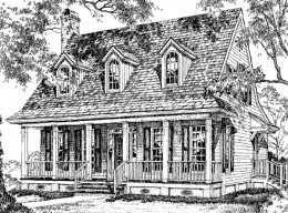 Cozy Creole Cottage Southern Cottage House Plans - Floor Plan #ALP