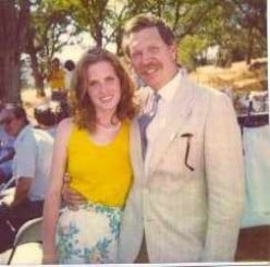 Lorena as a young woman with the man whom she loved more than anyone on the planet. Her Father, Robert Lund. A man who has the coolest mustache in the world and loved Lorena with an endless heart in life.