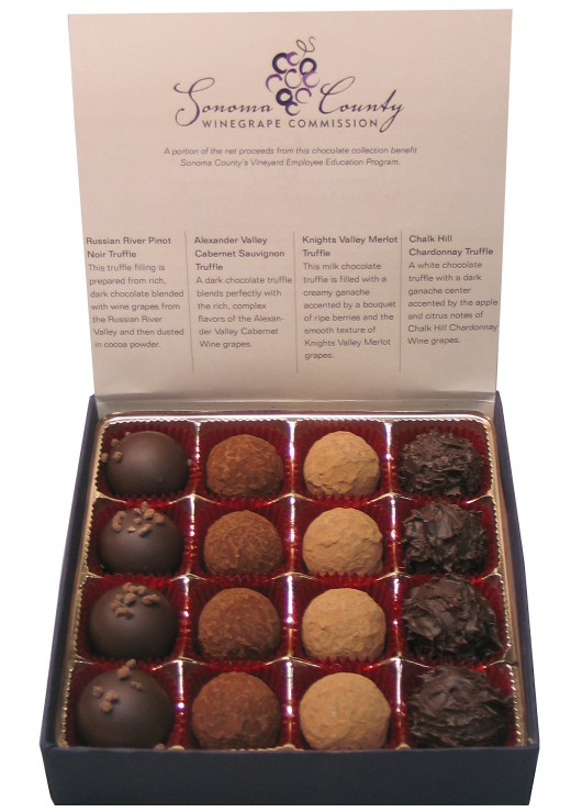Sonoma Growers' Choice Chocolate & Wine Collection