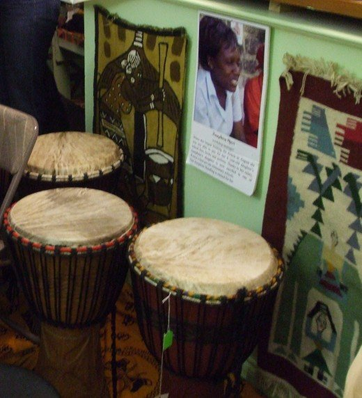 Djembes are available to purchase.
