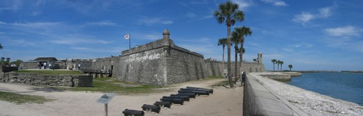 A panorama of the Castille de San Marcos