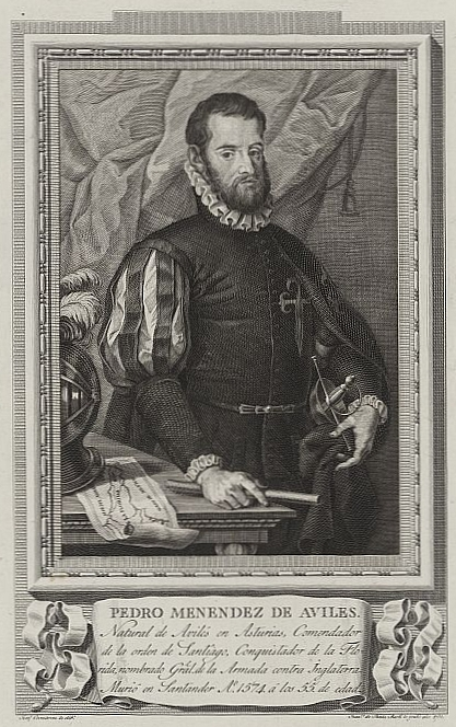 Pedro Menedez de Aviles, the Spanish Explorer who founded the city of St. Augustine