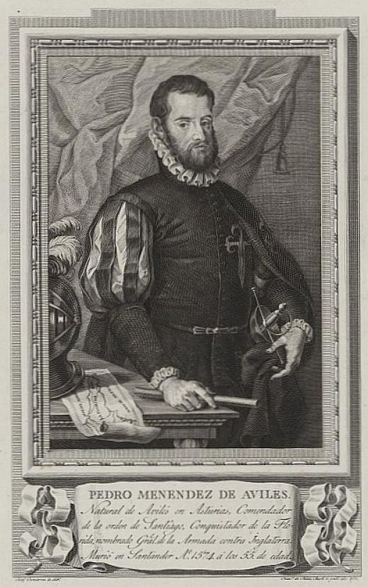 Pedro Menedez de Aviles, the Spanish Explorer who founded the city of St. Augustine