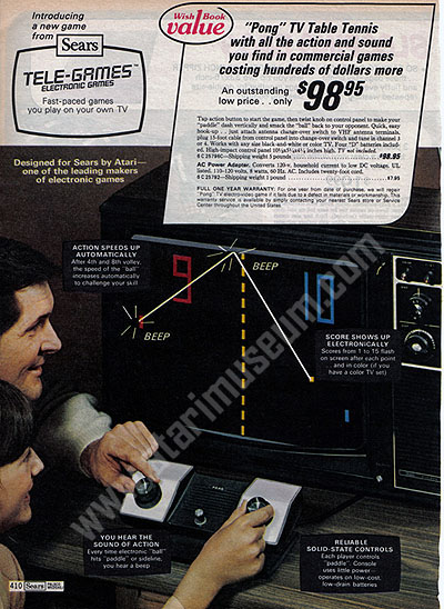 Pong ad from 1975.