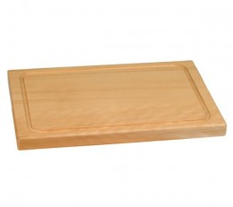 Scrub cutting board with soap and brush after cutting meat or vegetables.