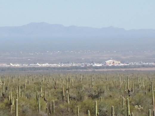 Aircraft stored at Pinal Air Park near Marana, Arizona