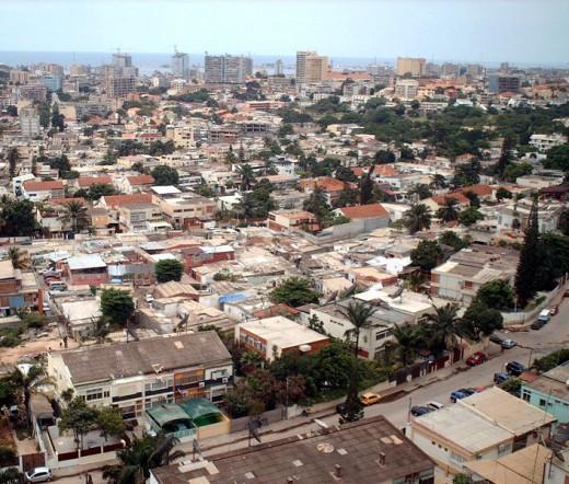 Panoramic view of Luanda