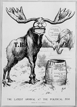 """The latest arrival at the political zoo"" c. 1912"