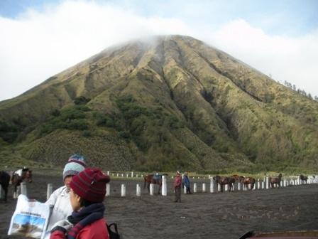 close view of Mt Batok (Mount Bromo).