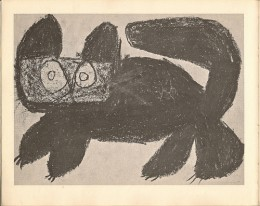 Child's Crayone Drawing of a Cat