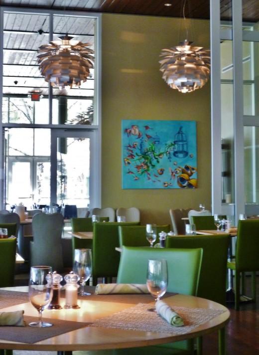 Inside of The Grove restaurant
