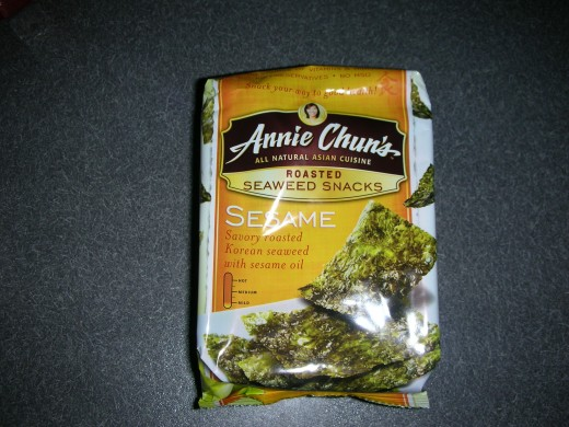 Single pack of seaweed snacks
