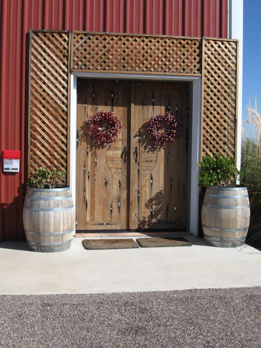 A Rustic Entryway to the Crop Circle Winery in Wilcox, Arizona