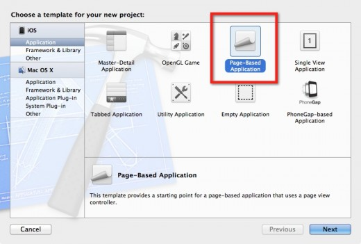 Select the Page View Application