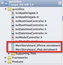 Universal App Storyboards
