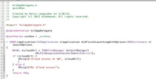 iCloud Availability Code