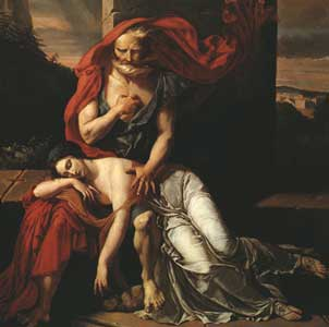 Oedipus with the corpse of Antigone
