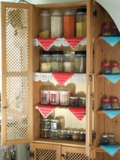 Decorating with an Antique Pie Safe