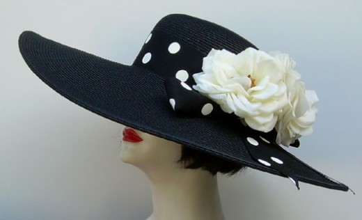 """This is a great first hat to try to make.  Find the black base at any large department store.  Remember that many ready-made hats can be """"torn down"""" to the base."""