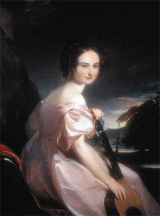 Her portrait was painted by the artist Thomas Sully, who later painted Queen Victoria.