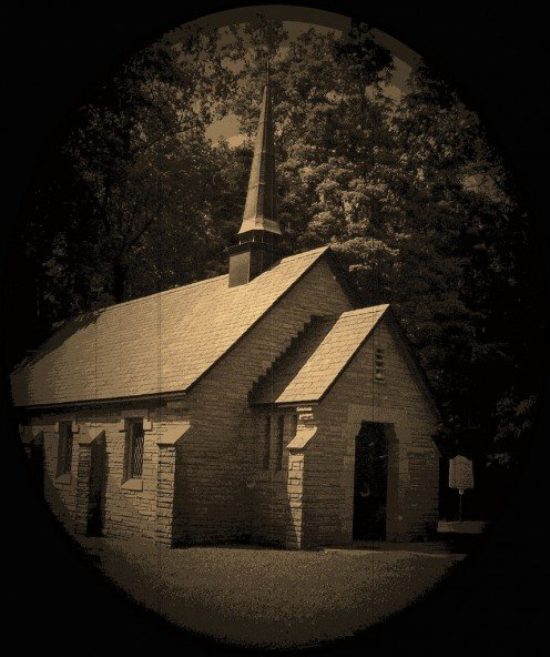 Portrait of an old church.