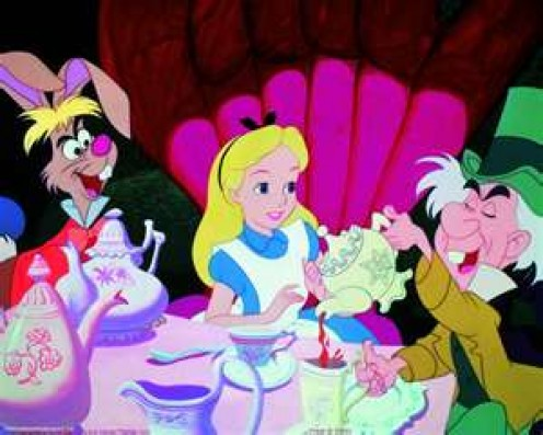 The March Hare, Alice and The Mad Hatter