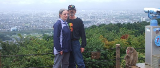 Larry and Ruth Iwaskow in Kyoto, Japan in 2007