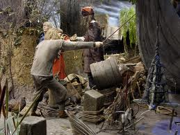 A Jorvik man helps unload a ship by the river near Kopargata (Coppergate, York, site of the Jorvik Viking Centre where you will see this figure amongst many  other tableaux