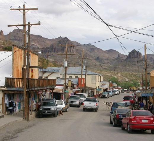 The town of Oatman, Arizona.