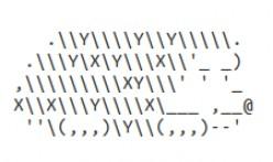 Groundhog Day ASCII Text Art