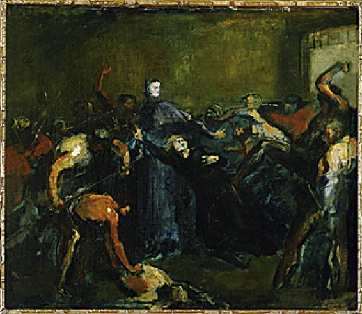 The Archbishop of Paris imprisoned