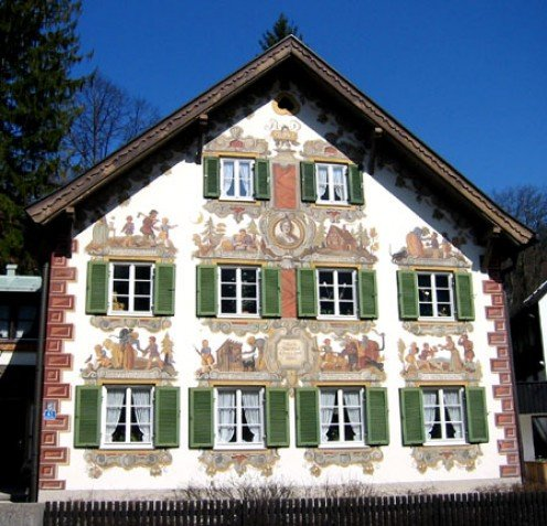 Frescoes Adorning a Home