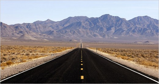 The Extraterrestrial Highway in Rachel, Nevada.