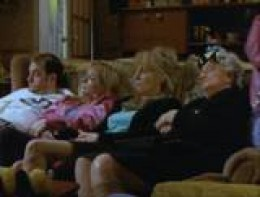 The Royle Family watching telly