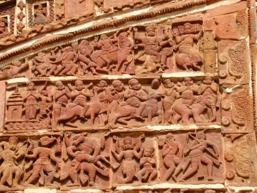 Intricate terracotta art