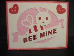 Easy to create Homemade Handmade  Valentine's Card with your Cricut machine