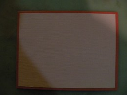 Cardstock background on base card
