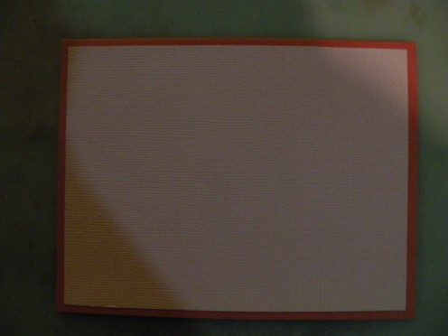 Cardstock background on base card
