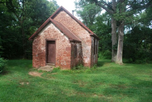 This brick school house was probably an exception; most were wood