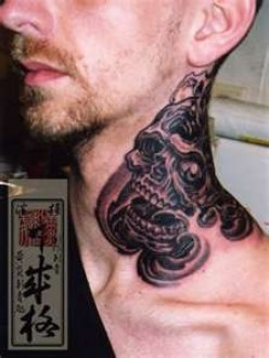 Mens Neck Tattoos Designs