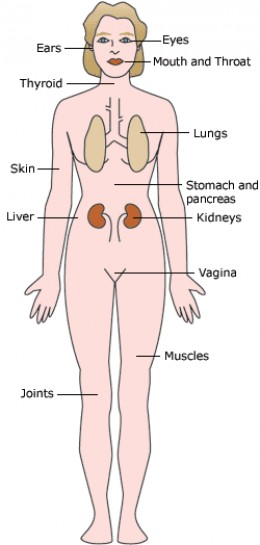 Body Parts Effected by Sjogrens
