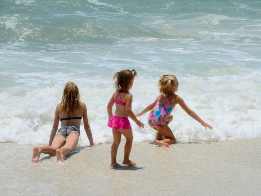 Parents will appreciate the gentle surf at Naples beaches.