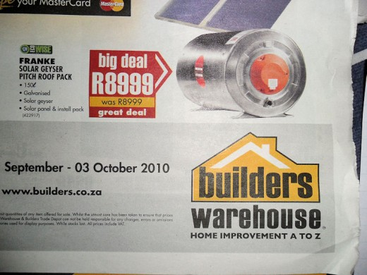 Definitely nothing for nothing from this branch of Builders Warehouse...